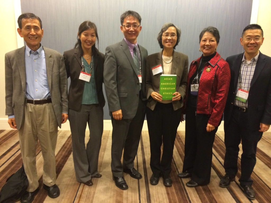 AAR book panelists pictured (from left to right): Andrew Sung Park, Grace Yia-Hei Kao, Ilsup Ahn, Kwok Pui-Lan, Rita Nakashima Brock