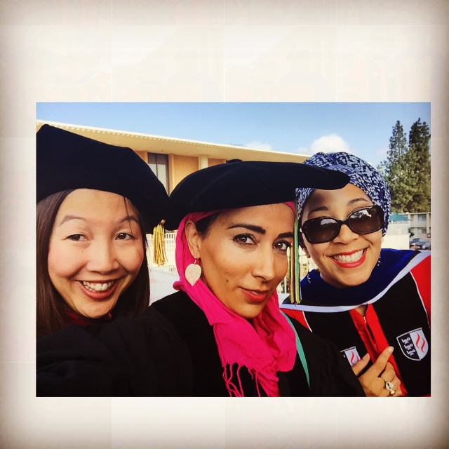 From left to right: Grace Yia-Hei Kao, Najeeba Syeed, and Monica A. Coleman